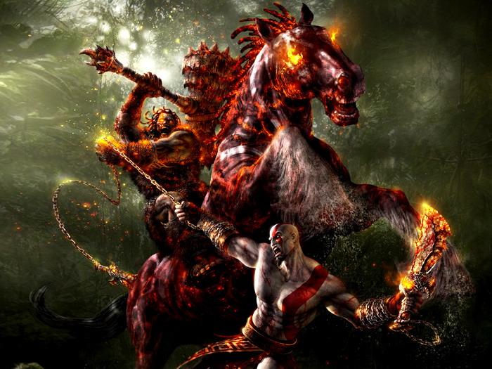 D9767 God of War 3 Kratos Battle Art Video Game Wall Print POSTER CA
