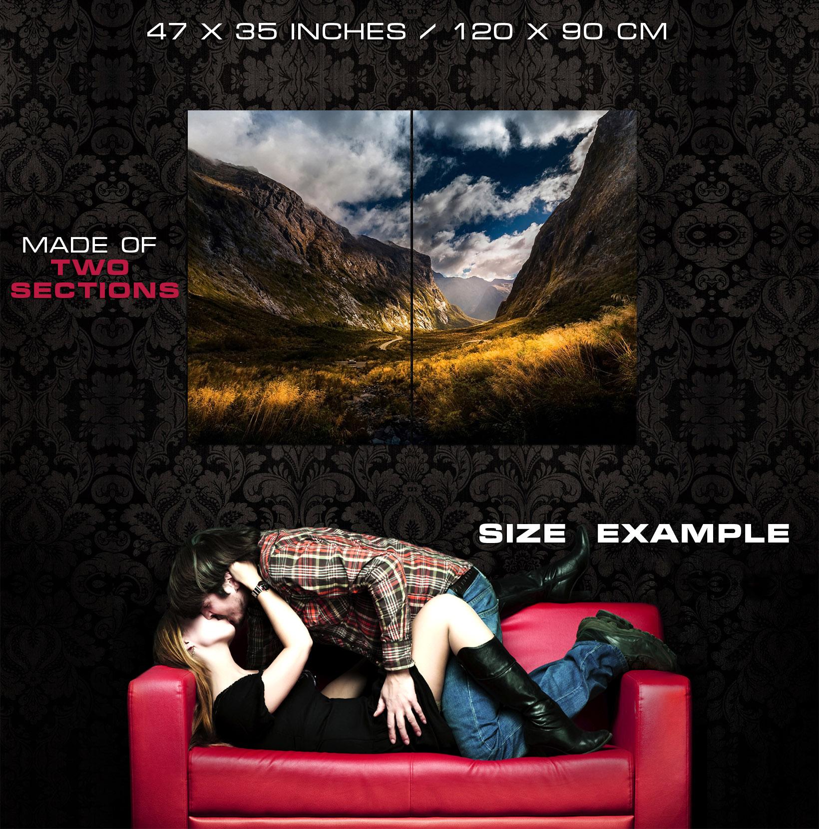 Fantastic HDR Art Canyon Wall Print POSTER CA CA CA 3a93a8