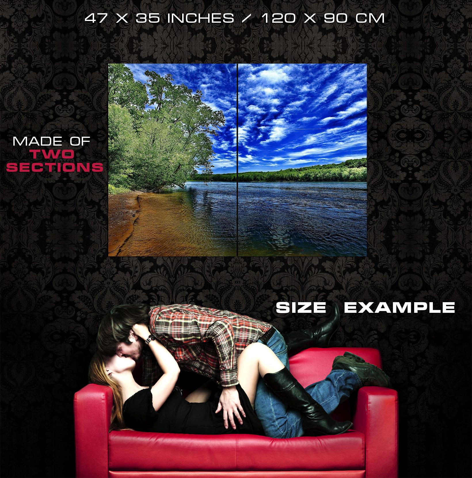 Fantastic Fantastic Fantastic HDR Art River Clouds Sky Wall Print POSTER CA b129e3
