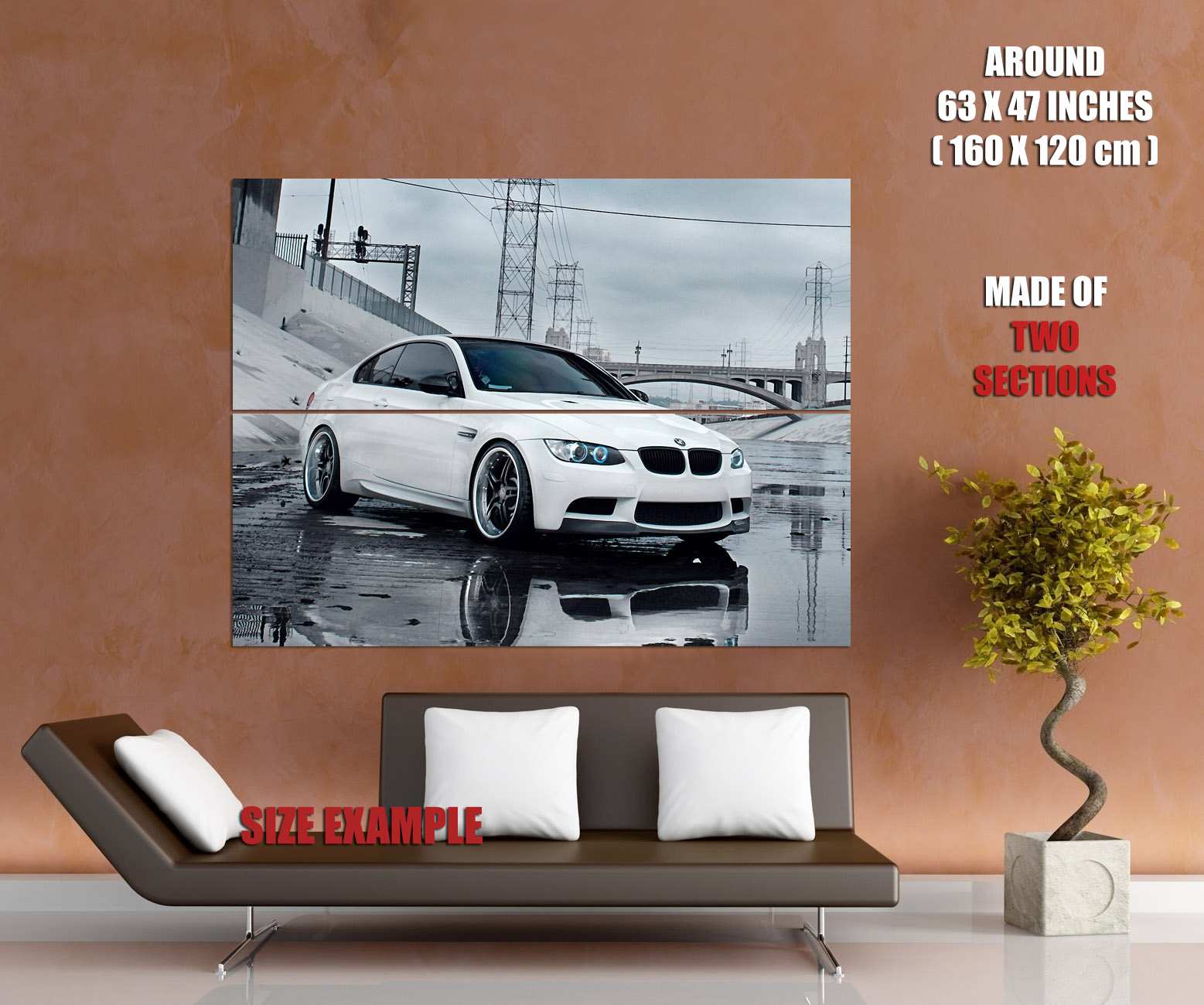 BMW-White-sough-City-Megapolis-Landscape-Wall-Print-POSTER-AU