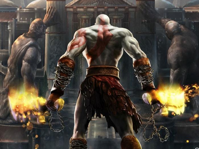 H0798 Kratos God Of War PC Video game Wall Print POSTER AU