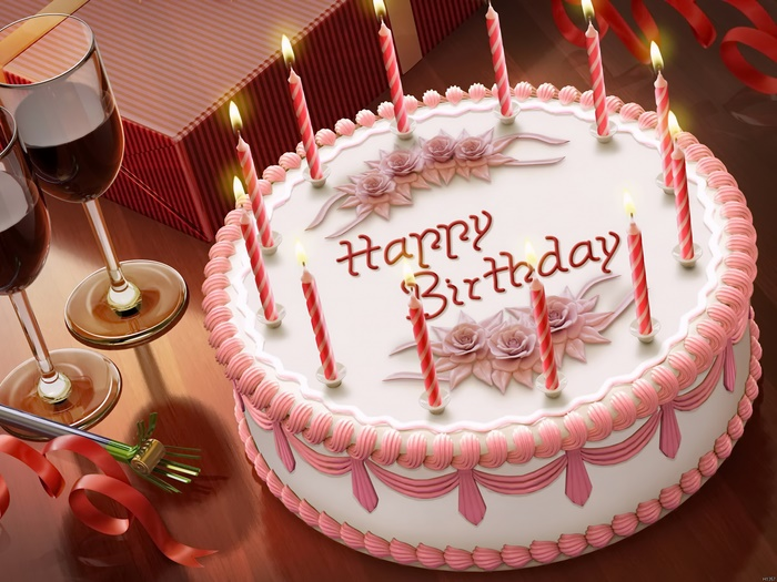 Image Is Loading Happy Birthday Cake Candles Holiday Triumph Wall Print