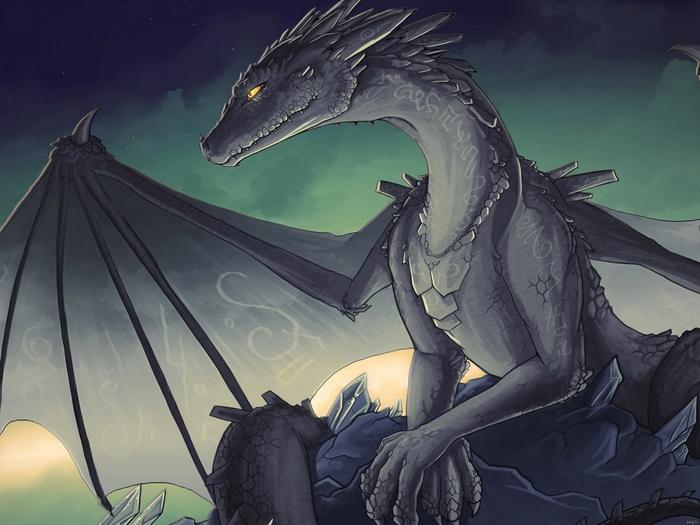 Dragon Dragon Dragon Wing Painting Artwork FRAMED CANVAS PRINT FR 534624