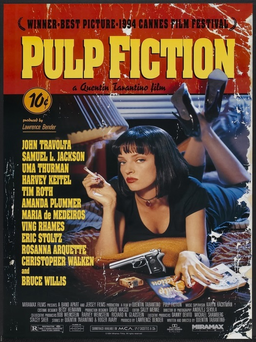 Pulp Pulp Pulp Fiction Uma Turman Movie FRAMED CANVAS PRINT DE cfb3f7