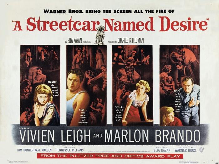 Streetcar Named Desire Brando Leigh Movie Vintage Wall Print POSTER CA