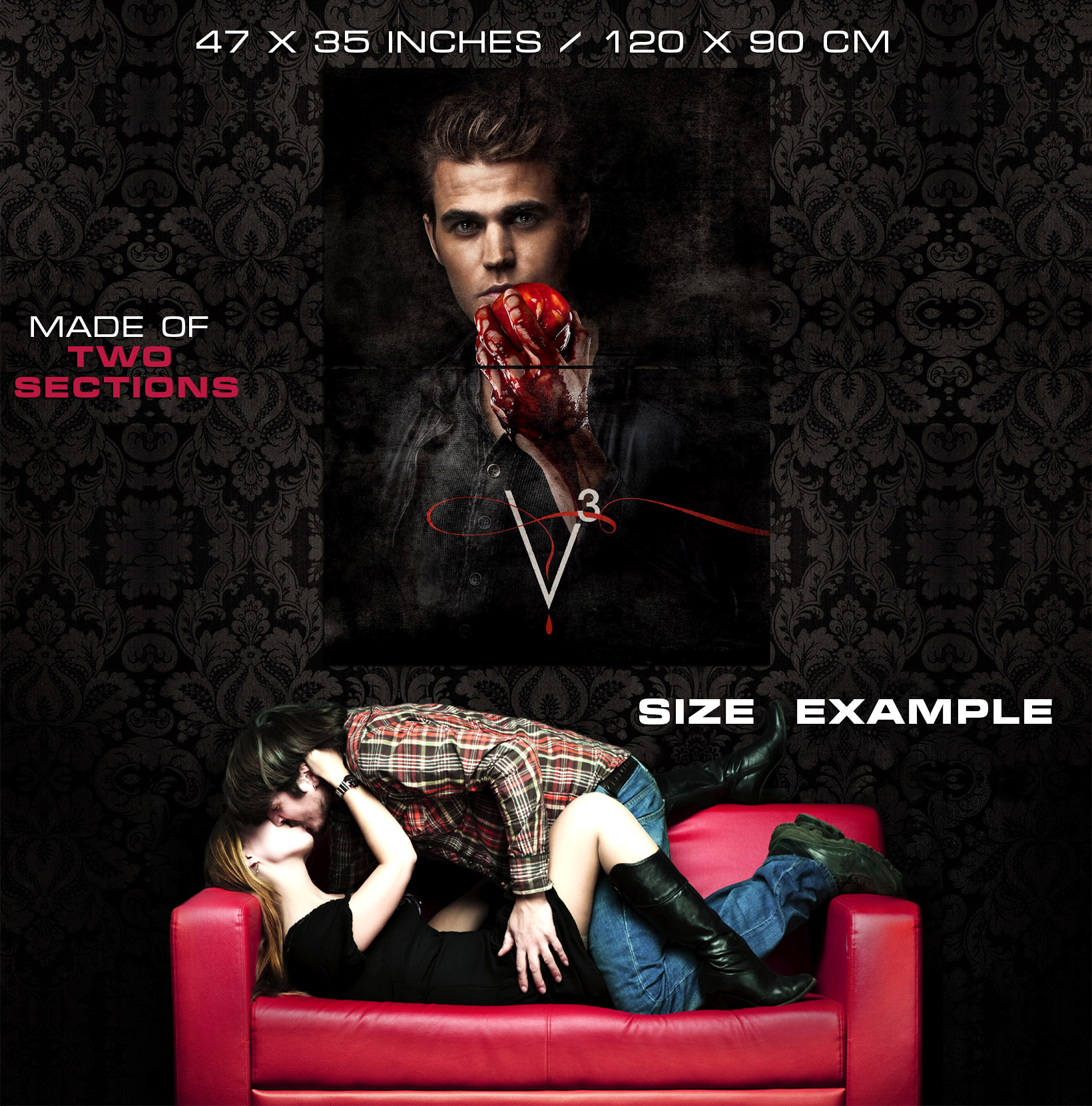The Vampire Diaries Paul Wesley Print POSTER Affiche Affiche Affiche c7665f