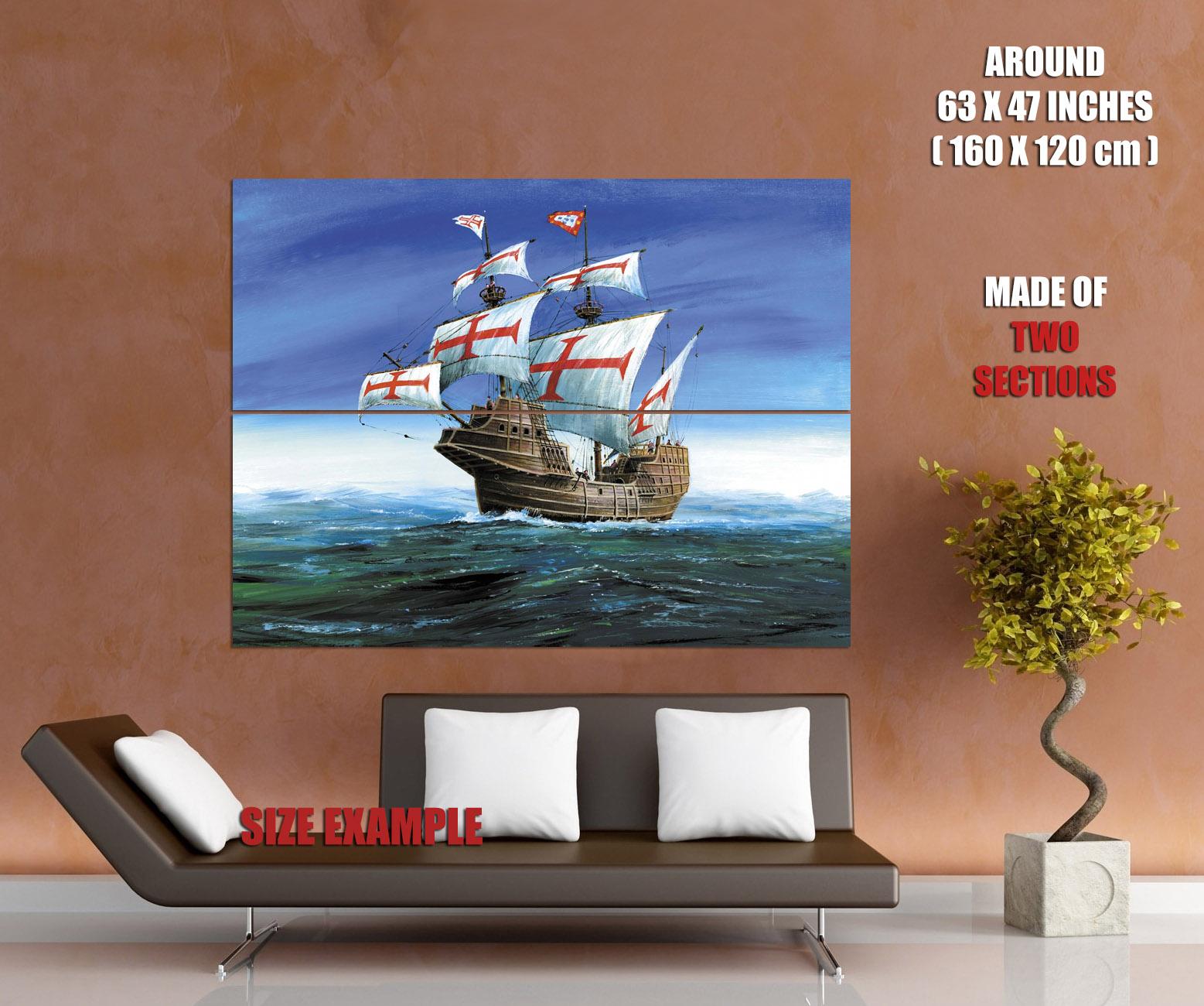San Gabriel Gabriel Gabriel Ship Sea Art Wall Print POSTER CA 4413c0