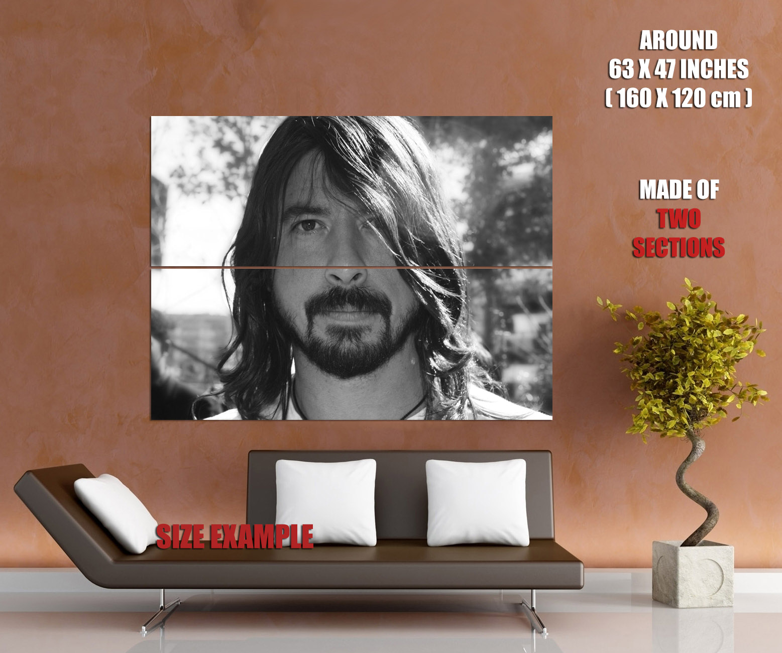 Dave-Grohl-BW-Portrait-Rock-Music-Wall-Print-POSTER-UK thumbnail 6