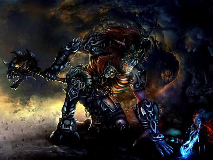 Troll Warrior Warrior Warrior Dark Fantasy Art FRAMED CANVAS PRINT DE 07ed70