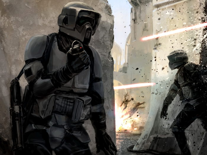 Scouts Scouts Scouts Grenade Star Wars Art FRAMED CANVAS PRINT DE 025e09