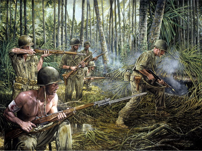 world war ii ww2 american soldiers art wall print poster au ebay