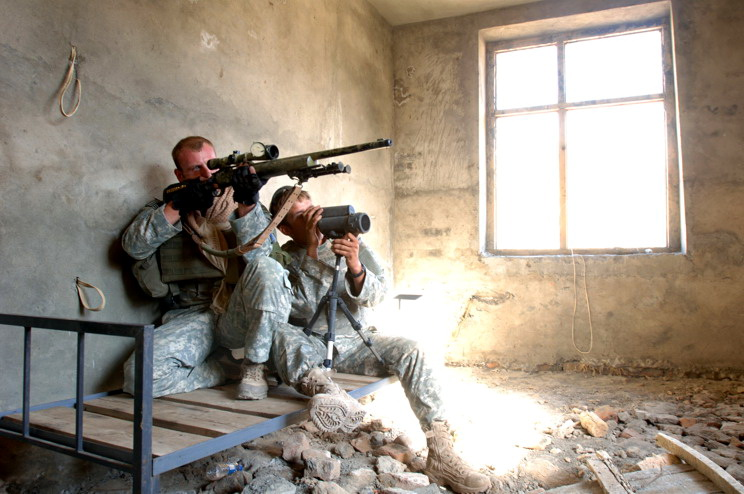 Afghanistan Sniper Weapon Military FRAMED CANVAS PRINT PRINT PRINT FR bc2902