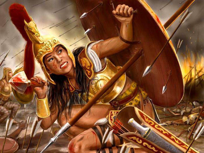 Amazon Woman Warrior Painting Art Wall Print POSTER CA