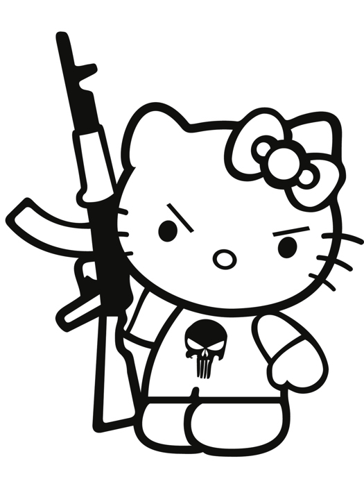 hello kitty punisher cool art wall print poster ebay Hello Kitty Toys image is loading hello kitty punisher cool art wall print poster