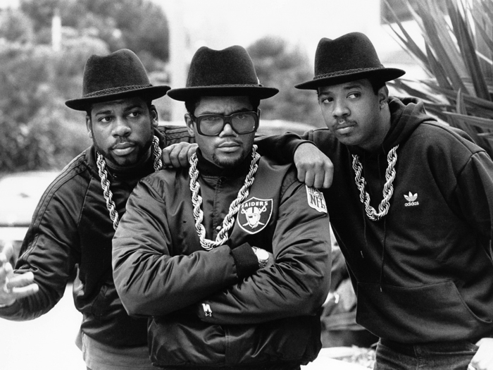 Run DMC Hip-Hop Music BW FRAMED CANVAS PRINT DE