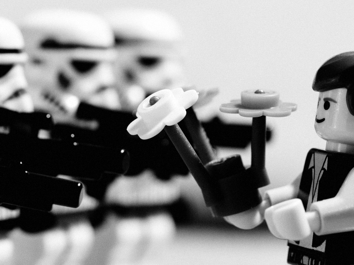 Stormtroopers Flower Cool Art BW Wall Print POSTER AU