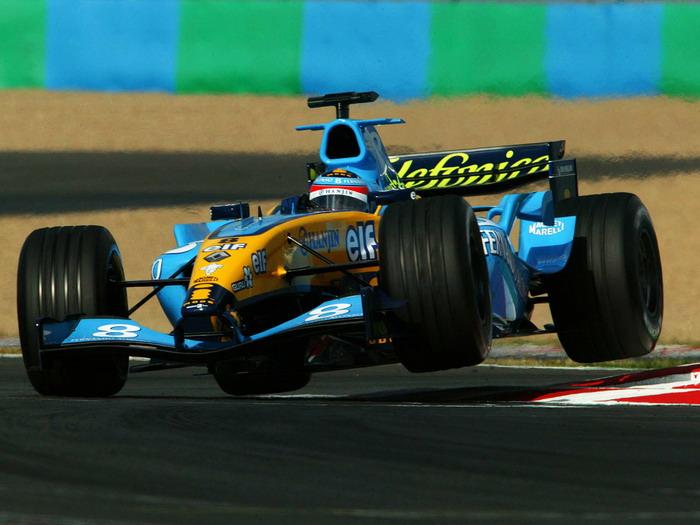 Fernando Alonso Formula One Magny Cours FRAMED CANVAS PRINT FR