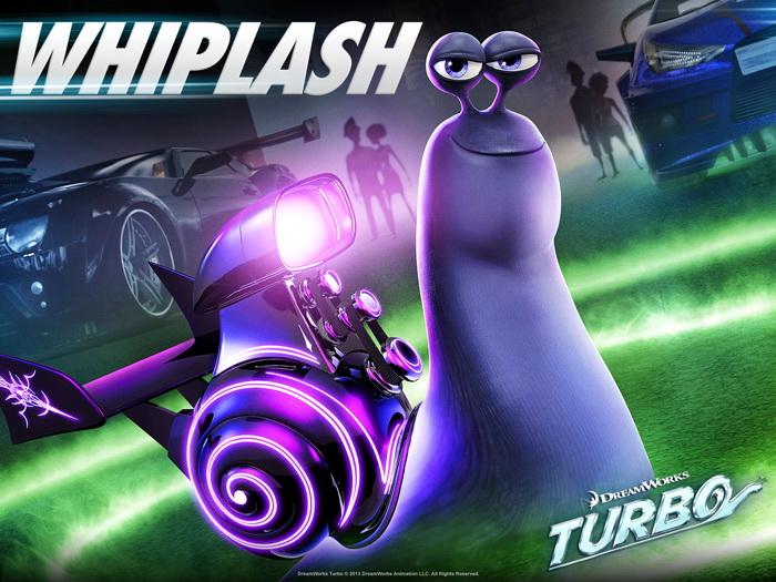 Turbo Whiplash Animation 2013 FRAMED CANVAS PRINT DE