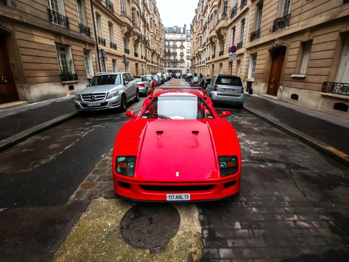 Ferrari F40 rot Supercar FRAMED CANVAS PRINT FR