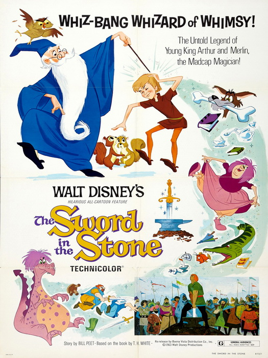 The Sword In The Stone Classic Movie Vintage FRAMED CANVAS PRINT FR