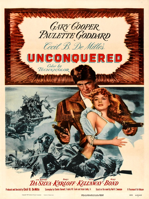Unconquerot 1947 Retro Movie Vintage FRAMED CANVAS PRINT FR