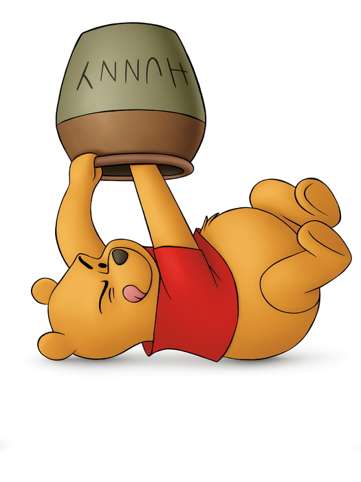 Winnie-The-Pooh-Honey-Cute-Art-Wall-Print-POSTER-AU