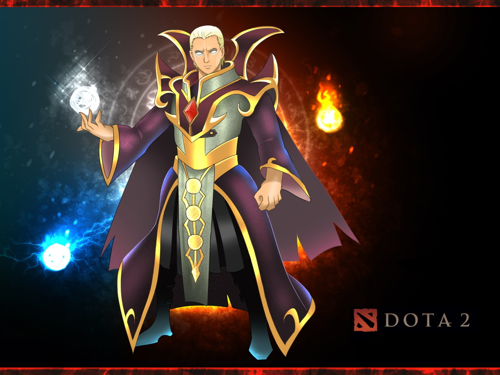 Dota 2 Hero Invoker Kael Anime Game Fan Art Wall Print Poster Uk Ebay