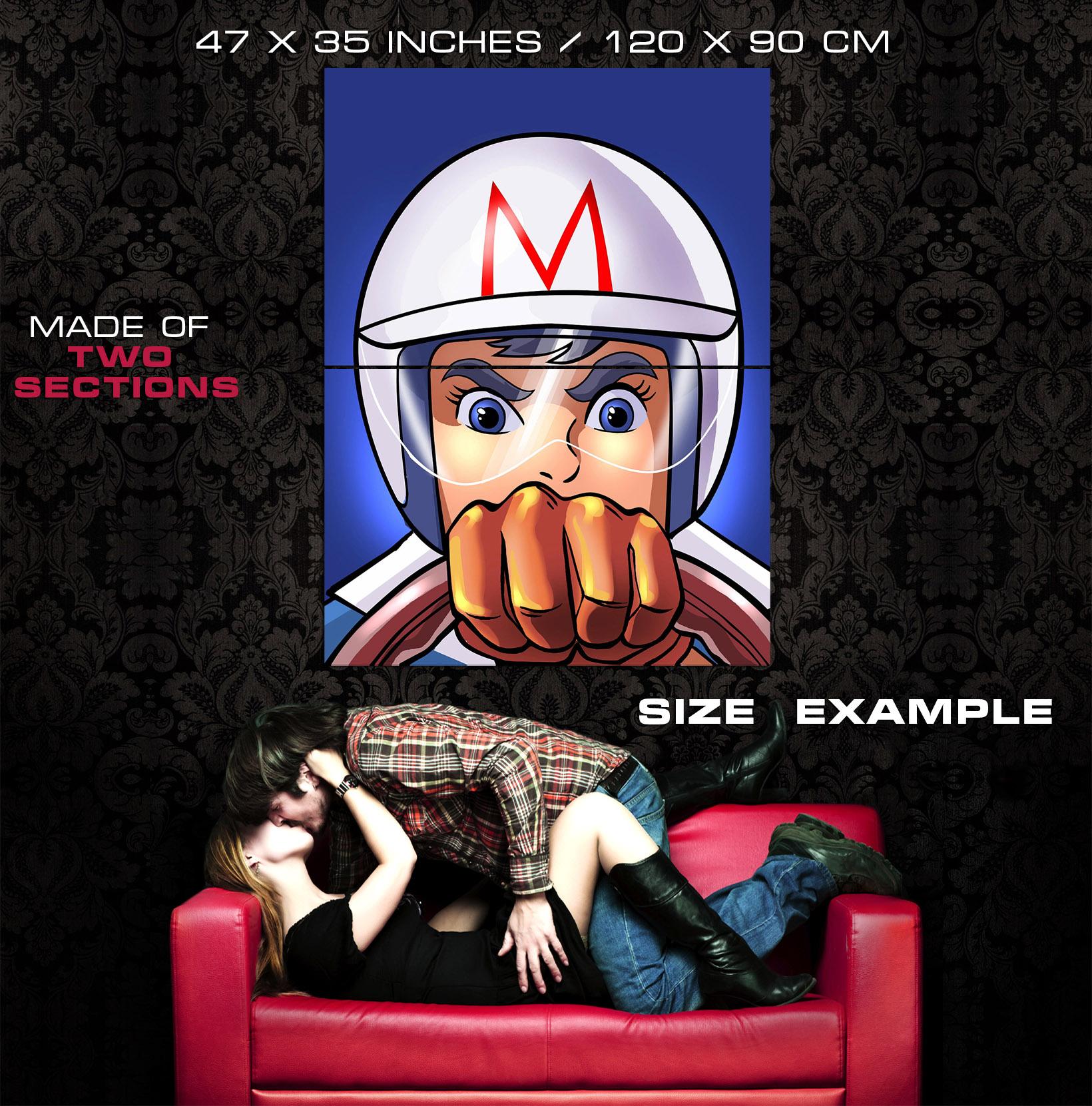 Super Speed Racer Mach GoGoGo Anime Manga Amazing Cartoon Giant Wall  XY28