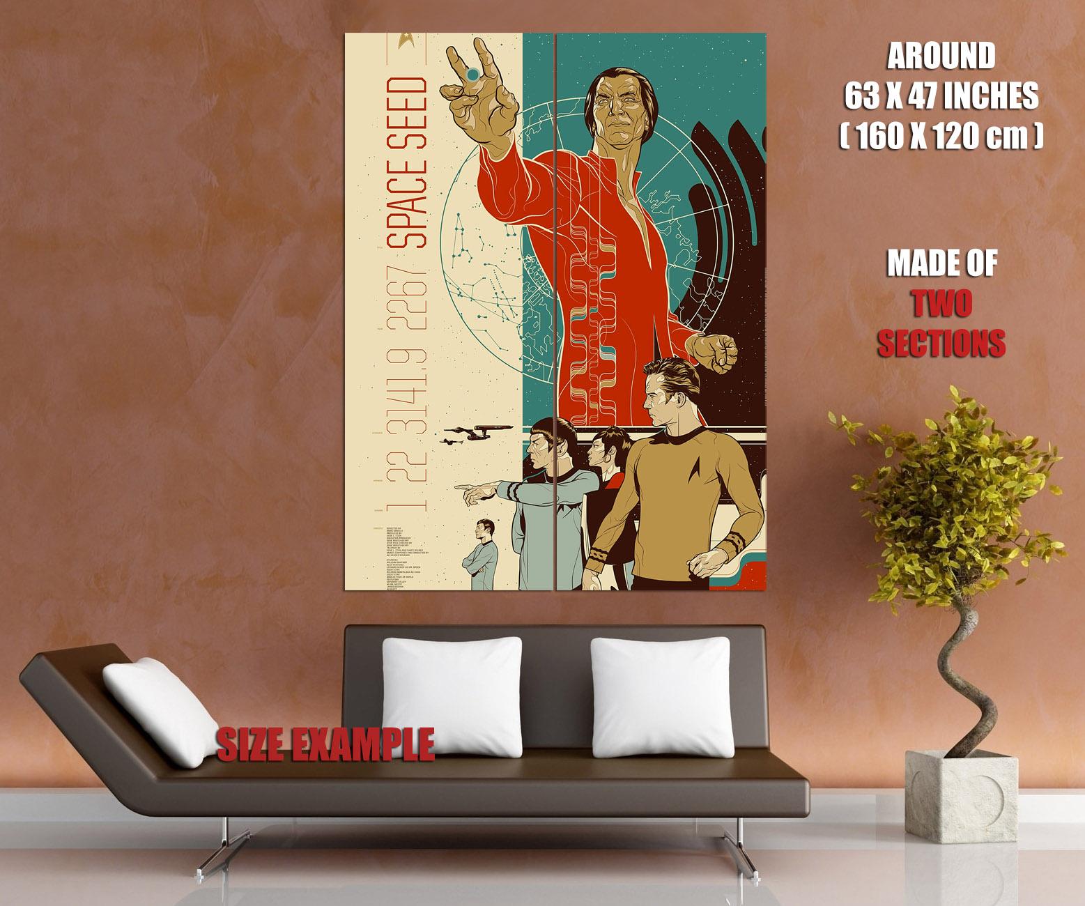 Star Star Star Trek Classic Marc Daniels Nimoy Shatner huge Giant print poster manifesto c1d3c3