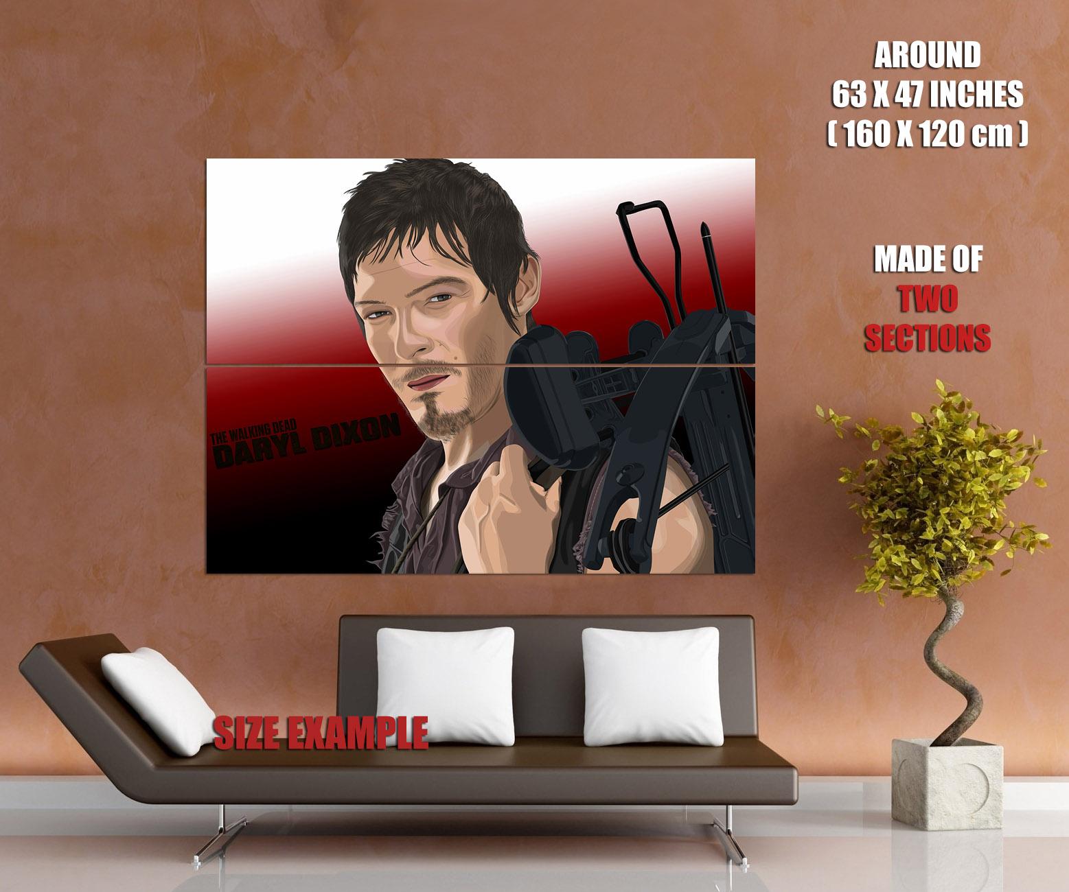 Daryl Dixon The Walking Dead Portrait Portrait Portrait Art Huge Giant Wall Print POSTER dbe4c8