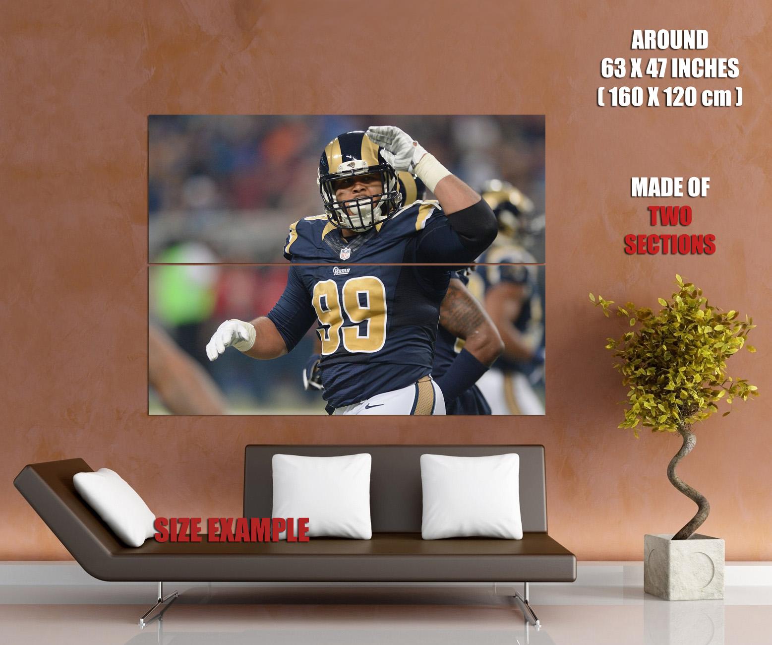 V8603 Aaron Donald  Los Los Los Angeles Rams Football Sport Player WALL PRINT POSTER 1741d9