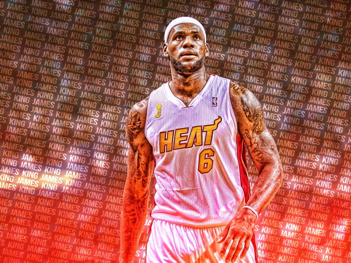 d56451f2 Image is loading King-James-LeBron-Art-Miami-Heat-Basketball-Giant-