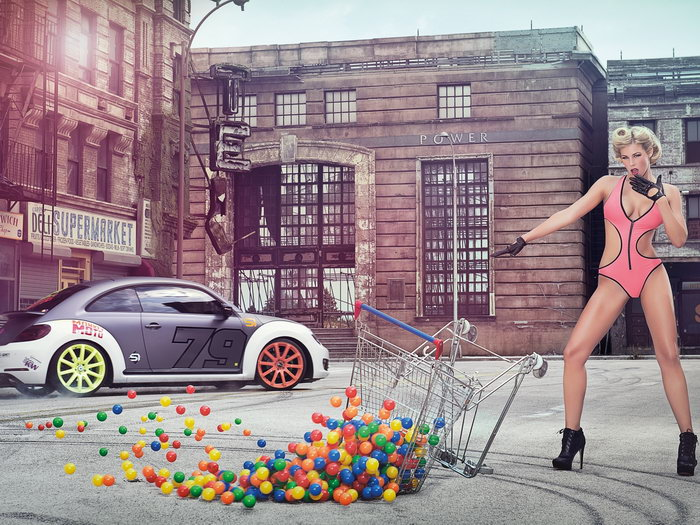 Leonie Hagmeyer-Reyinger Volkswagen Beetle Hot Huge Giant Wall Print POSTER