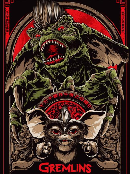 Gremlins-Movie-1984-Gizmo-Cool-Art-Artwork-Huge-Giant-Print-POSTER-Affiche