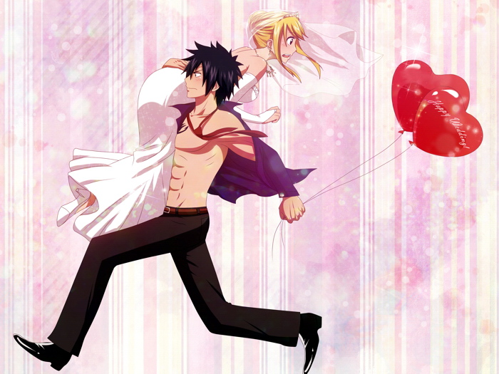 Image Is Loading Fairy Tail Lucy Heartfilia Gray Fullbuster Anime Manga