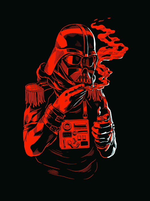 Image Is Loading Darth Vader Cool Monochrome Red Art Funny Star