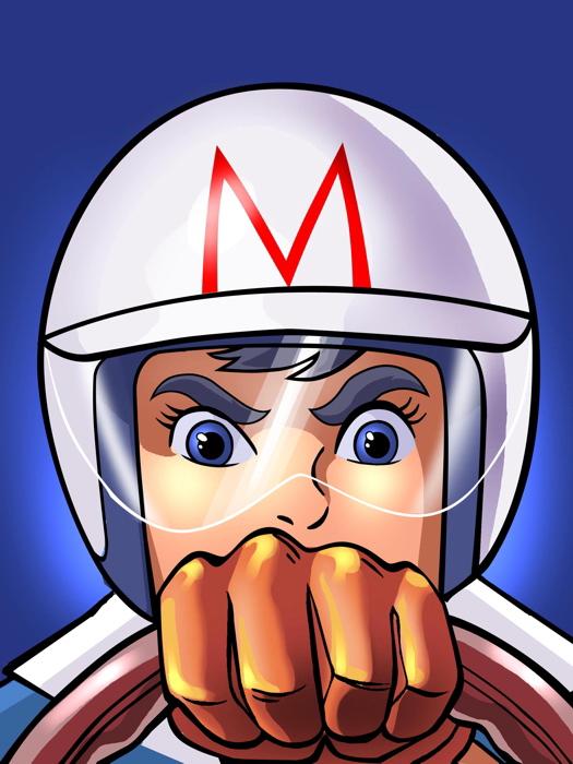 Popular Speed Racer Mach GoGoGo Anime Manga Amazing Cartoon Giant Wall  EG56