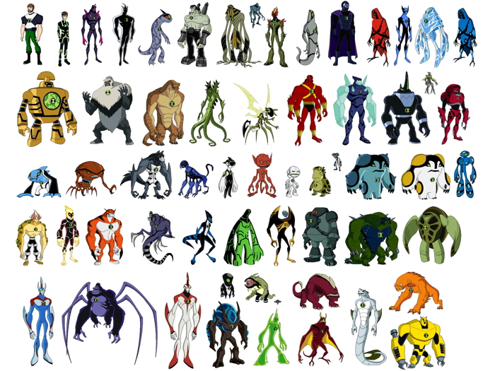 ben 10 all aliens characters cartoon tv series art giant wall print