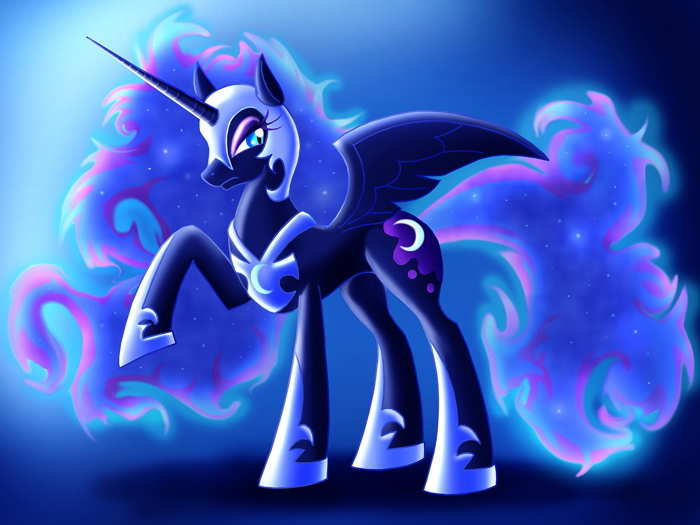 princess luna nightmare moon my little pony cute giant wall print