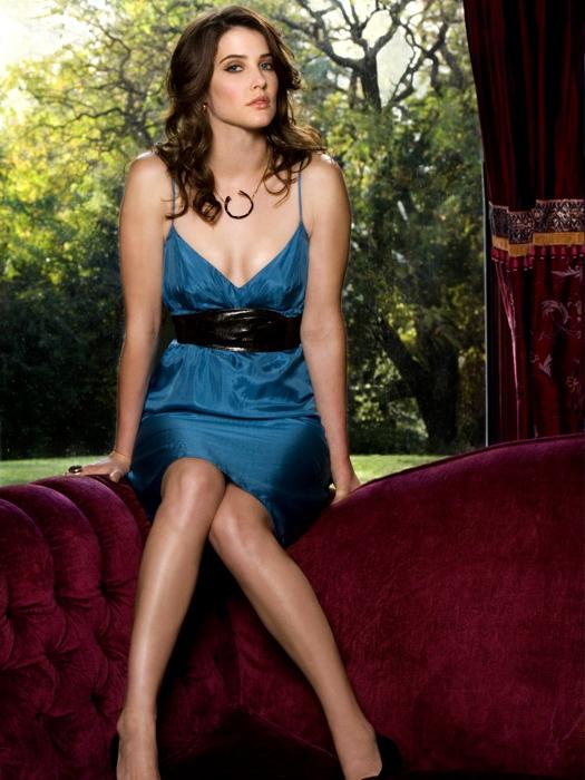 Cobie Smulders Hot Y Dress Legs Actress Huge