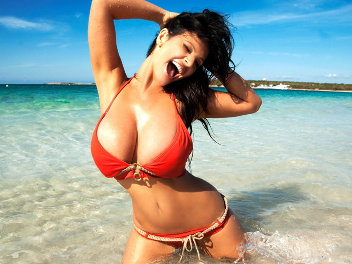 Denise milani hot bikini