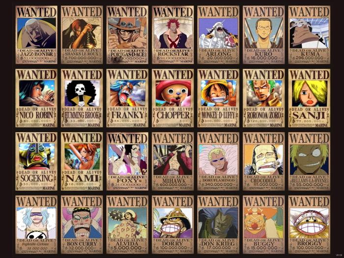 One Piece Characters Awesome Anime Manga Art Huge Giant Wall Print POSTER
