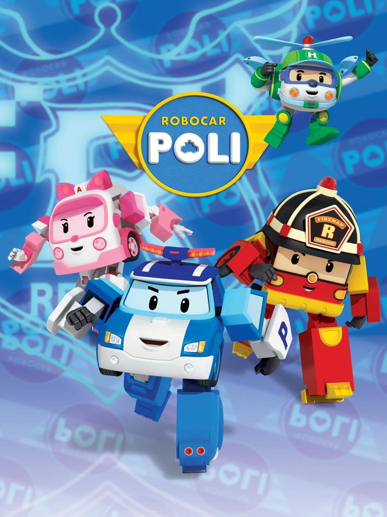 V8077 Robocar Poli Roy Amber Helly Characters Cartoon Art WALL PRINT POSTER
